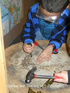 Learning and Teaching With Preschoolers: Hammer and Nail Station