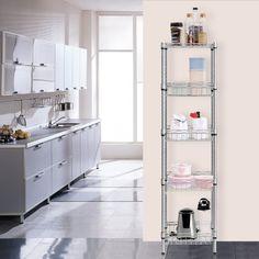 amazoncom langria 5tier wire shelving unit with baskets free storage u0026 rackwire shelving