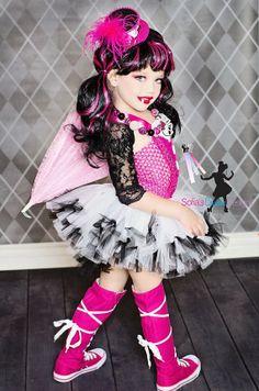 SUPER CUTE Monster High Draculara Inspired Tutu Costume!!