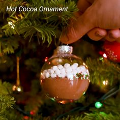 diy projects For Gifts homemade christmas - Hot Cocoa Ornament Christmas Food Gifts, Diy Holiday Gifts, Homemade Christmas Gifts, Christmas Goodies, Christmas Candy, Holiday Crafts, Christmas Crafts, Christmas Bulbs, Christmas Decorations