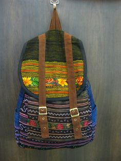 Thai Hmong Embroidered Hand Made Backpack | Sure Design