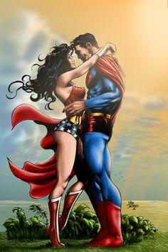 Superman and Wonder woman by ~EricHenrique