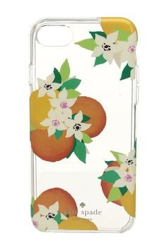 Kate Spade New York Orange Blossoms Phone Case for iPhone 7 (Clear Multi) Cell Phone Case - Kate Spade New York, Orange Blossoms Phone Case for iPhone 7, 8ARU1843-915, Bags and Luggage Small Goods Cell Phone Case, Cell Phone Case, Small Goods, Bags and Luggage, Gift, - Street Fashion And Style Ideas