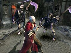Devil May Cry - Good game, terrible music. Ugh, my friend Sarah and I would just sit their and laugh at the music the whole time it was playing Gothic Games, Ps2, Computer Video Games, Devil May Cry 4, Rosetta Stone, Ps3 Games, English Course, Angels And Demons, Resident Evil