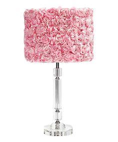 Look at this #zulilyfind! Pink Rose Garden Crystal Lamp #zulilyfinds