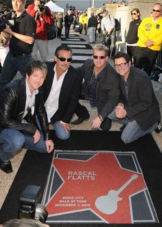 2010 Nashville Music City Walk Of Fame Induction Ceremony, Rascal Flatts