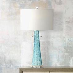 Possini Euro Miriam Blue Glass Table Lamp - #8Y557   www.lampsplus.com