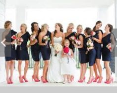 Bridesmaid Dresses & Gown Photos - Find the perfect bridesmaid dress pictures at WeddingWire. Browse through thousands of wedding photos of bridesmaid dresses and gowns. Perfect Wedding, Dream Wedding, Wedding Day, Wedding Pins, Wedding Beauty, Blue Wedding, Wedding Stuff, Destination Wedding, Wedding Planning