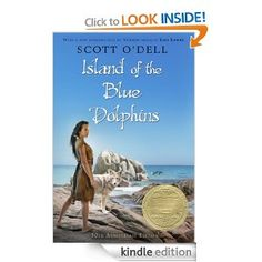 Island of the blue dolphins.  Based on a true story of a 12 year old girl stranded on an island alone for 18 years.  Recommended age group was 4-8th grade, but I read it for the first time as an adult, and I loved it!