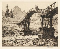 Martin Lewis. The Bridge near Nikko, 1926