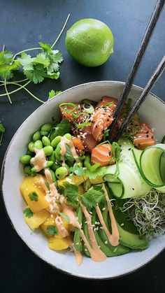Food N, Good Food, Food And Drink, Yummy Food, Vegetarian Recipes, Healthy Recipes, Dinner Is Served, Greens Recipe, Asian Recipes