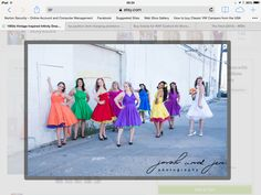 Pretty with different coloured petticoats
