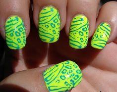 Neon Nail Art Ideas...