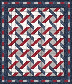 NEW Stars and Stripes Quilt Pattern five one-yard cuts FREE Shipping. $8.00, via Etsy.