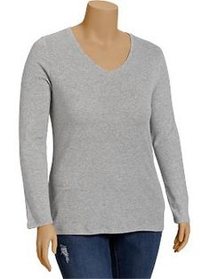Womens Plus Perfect V-Neck Tees - Everyday Steals