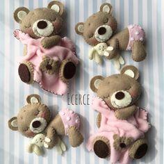 günaydın #keçe #felt #feltro #fieltro #ecerce #tasarim #babyroom #babyroomdecor #elyapimi #handmade #hediye #baby #babyshower #bebekodasi #craft #feltcraft #bear #feltbear #dogumhediyesi #bebekhediyesi #hosgeldinbebek #sleepingbear #gunaydin #goodmorning