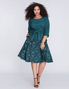 68d343fb373 Pleated Full Skirt by Melissa McCarthy Seven7. Full SkirtsPlus Size ...