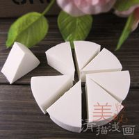 Cosmetic brush make-up mounted liquid foundation sponge powder puff swizzler triangle latex puff 8