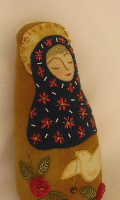 Wool Art Doll  A Peaceful Offering by art4sol on Etsy, $95.00