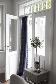 CLASSIC side table and MARIE VOILE EMB. curtain. Lene Bjerre, spring 2014.
