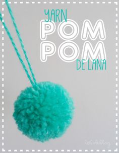 LALOLE BLOG: CÓMO HACER POMPONES DE LANA Wool Dolls, Pom Pom Rug, Pom Pom Maker, Pom Pom Crafts, So Creative, Amigurumi Doll, Xmas Decorations, Handmade Crafts, Diy For Kids