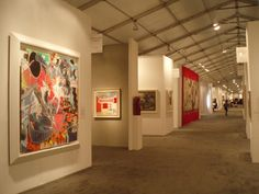 Art Gallery Layout | Art galleries display art in large airconditioned tents.