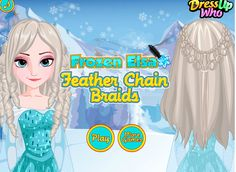 Disney Frozen, Elsa Frozen, Free Haircut, Feather Braid, Hairstyles, Braids,
