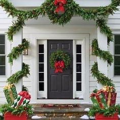 It is possible to also use Christmas lights to get your door pop out during night time. Christmas door decorations leave the very first impression