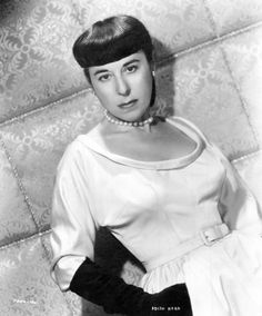 """✶ Edith Head, minus her tinted glasses, in the gown she wore for the 1950 Oscars where she won best costumes for """"Samson and Delilah"""" (1949). Edith received 35 nominations from the Academy (more than any other woman) and brought home 8 Oscars. ✶"""