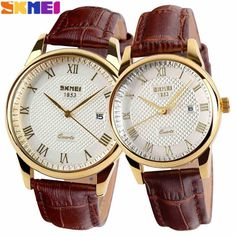 New Women Dress Watches,Watches Men Luxury Brand Fashion& Casual Lover couple Multi-Color Leather strap Relogio Feminino //Price: $21.98 & FREE Shipping //