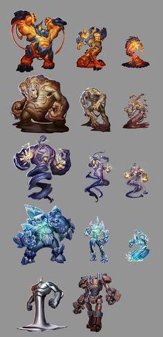 Elementals sheet by Rayph on DeviantArt