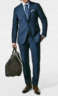 Navy Mens Suit☆ Street Style ■