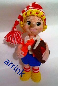 Буратино -МК Ольги Корчагиной - МОИ ВЯЗАЛКИ - Галерея - Форум почитателей амигуруми (вязаной игрушки)