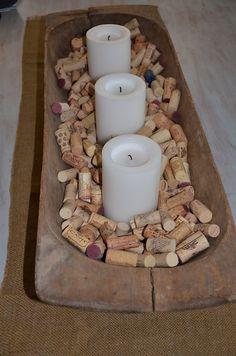 Wine cork centerpiece