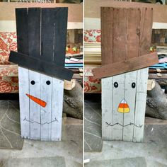 Reversible pallet Snowman and Scarecrow