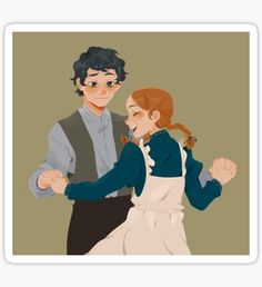 Anne and Gilbert Anne Shirley, Gilbert And Anne, Anne White, Gilbert Blythe, Anne With An E, Kindred Spirits, Film Serie, Drawing Reference, Cute Art