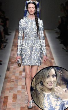 Kim Kardashian's engagement dress. Valentino Fall 2013