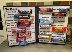 Birthday Gift Ideas for Dad . top 20 Birthday Gift Ideas for Dad . My Dads Birthday Card Poster Birthday Ideas Candy Birthday Cards, Special Birthday Cakes, Good Birthday Presents, Dad Birthday Card, Best Birthday Gifts, Birthday Diy, Birthday Greetings, Happy Birthday, Candy Bar Cards