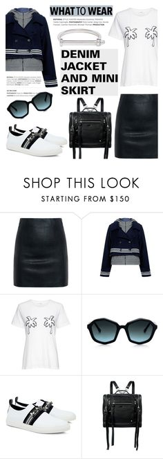 """""""What to wear: DENIM JACKETS AND MINI SKIRTS"""" by ifchic ❤ liked on Polyvore featuring McQ by Alexander McQueen, Sea, New York, A.L.C., Theory, Mother of Pearl, MIANSAI and contemporary"""