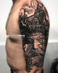 3D Viking Arm Tattoo