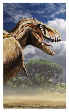 Tyrannosaurus rex taking a walk in search of prey