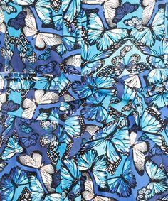 Macacão Estampado de Borboletas Azul - cea