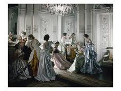 Premium Photographic Print: Vogue - June 1, 1948 - Charles James Ballgowns : 12x9in