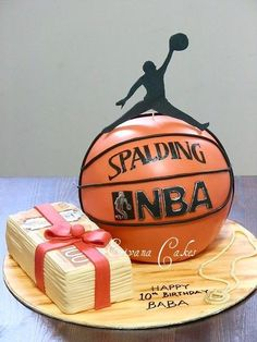 Basketball cake and Stack of Money Cake