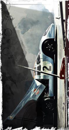 original wide size: cm You can purchase the digital file and print it as you like (wide is better XD) Porsche Gulf ART Le Mans, Auto Poster, Car Posters, Porsche 911 Targa, Porsche Cars, Bmw Sedan, Carros Lamborghini, Lamborghini Gallardo, Jaguar E Typ