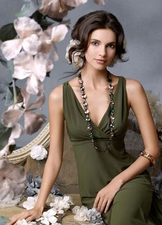 Moss green bridesmaid dress