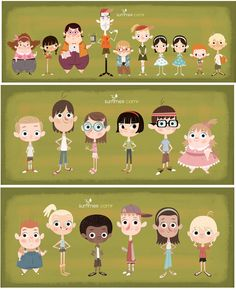 All the little people. Character Model Sheet, Kid Character, Character Creation, Character Concept, Children's Book Illustration, Character Illustration, Character Design References, Cartoon Kids, Character Design Inspiration