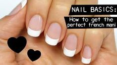 Image result for french polished nails