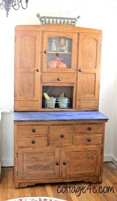 Amish Hoosier Hutch / Buffet china cabinet   Amish Furniture ...