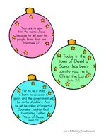 Christmas Ornament Bible Verse Crafts